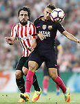 Athletic de Bilbao's Benat Etxebarria (l) and FC Barcelona's Denis Suarez during La Liga match. August 28,2016. (ALTERPHOTOS/Acero)