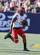Annapolis, MD - September 23, 2017: Cincinnati Bearcats wide receiver Kahlil Lewis (1) in action during the game between Cincinnati and Navy at  Navy-Marine Corps Memorial Stadium in Annapolis, MD.   (Photo by Elliott Brown/Media Images International)