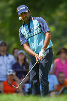Anirban Lahiri (IND) chips on to 8 during 3rd round of the World Golf Championships - Bridgestone Invitational, at the Firestone Country Club, Akron, Ohio. 8/4/2018.<br /> Picture: Golffile | Ken Murray<br /> <br /> <br /> All photo usage must carry mandatory copyright credit (© Golffile | Ken Murray)