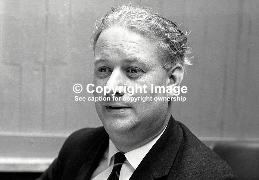 John Coulthard, candidate, N Ireland Labour Party, South Belfast consituency, 1970 UK General Election. 19706000209b..Copyright Image from Victor Patterson, 54 Dorchester Park, Belfast, UK, BT9 6RJ..Tel: +44 28 9066 1296.Mob: +44 7802 353836.Voicemail +44 20 8816 7153.Skype: victorpattersonbelfast.Email: victorpatterson@me.com.Email: victorpatterson@ireland.com (back-up)..IMPORTANT: If you wish to use this image or any other of my images please go to www.victorpatterson.com and click on the Terms & Conditions. Then contact me by email or phone with the reference number(s) of the image(s) concerned.