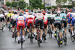 The peloton chase the breakaway with 30km to go during Stage 1 of the Criterium du Dauphine 2019, running 142km from Aurillac to Jussac, France. 9th June 2019<br /> Picture: Colin Flockton | Cyclefile<br /> All photos usage must carry mandatory copyright credit (© Cyclefile | Colin Flockton)