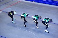 SCHAATSEN: HEERENVEEN: Thialf, 07-06-2012, Zomerijs, Koen Verweij, Sven Kramer, Douwe de Vries, Jan Blokhuijsen, Team Pursuit training, ©foto Martin de Jong