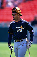 SAN FRANCISCO, CA:  Jose Lima of the Houston Astros before the game against the San Francisco Giants at Candlestick Park in San Francisco, California in 1999. (Photo by Brad Mangin)