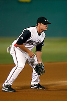 Logan Forsythe  ---  At the annual California League-Carolina League all-star game at the Diamond in Lake Elsinore, CA - 06/23/2009. The game was won by the California League, 2-1, on a walk-off homerun by Lancaster's Jon Gaston..Photo by:  Bill Mitchell/Four Seam Images