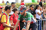 Italian Champion Davide Formolo (ITA) Bora-Hansgrohe crosses the finish line at the end of Stage 3 of La Vuelta 2019 running 188km from Ibi. Ciudad del Juguete to Alicante, Spain. 26th August 2019.<br /> Picture: Eoin Clarke | Cyclefile<br /> <br /> All photos usage must carry mandatory copyright credit (© Cyclefile | Eoin Clarke)