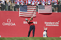 J.B. Holmes  (Team USA)  on the 1st tee during the Friday afternoon Fourball at the Ryder Cup, Hazeltine national Golf Club, Chaska, Minnesota, USA.  30/09/2016<br /> Picture: Golffile | Fran Caffrey<br /> <br /> <br /> All photo usage must carry mandatory copyright credit (&copy; Golffile | Fran Caffrey)
