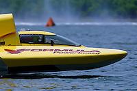 Dick Lynch pilots the U-5..Madison Regatta, Madison Indiana July 3, 2005.Photo Credit: ©F.Peirce Williams 2005