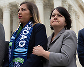 Hundreds of people rally outside the Supreme Court in Washington D.C., U.S. on Tuesday, November 12, 2019, in support of the Deferred Action for Childhood Arrivals program.  The Supreme Court is currently hearing a case that will determine the legality and future of the DACA program.  <br /> <br /> Credit: Stefani Reynolds / CNP