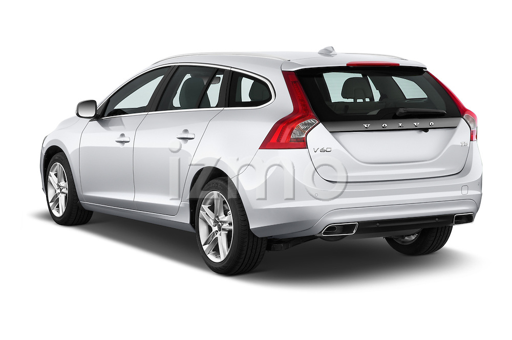 Car pictures of rear three quarter view of 2017 Volvo V60 T5 5 Door Wagon Angular Rear