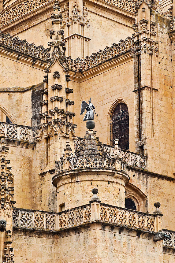 Details of Segovia Cathedral, Segovia, Spain