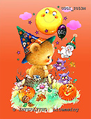 GIORDANO, CUTE ANIMALS, LUSTIGE TIERE, ANIMALITOS DIVERTIDOS, Halloween, paintings+++++,USGI2053M,#AC#