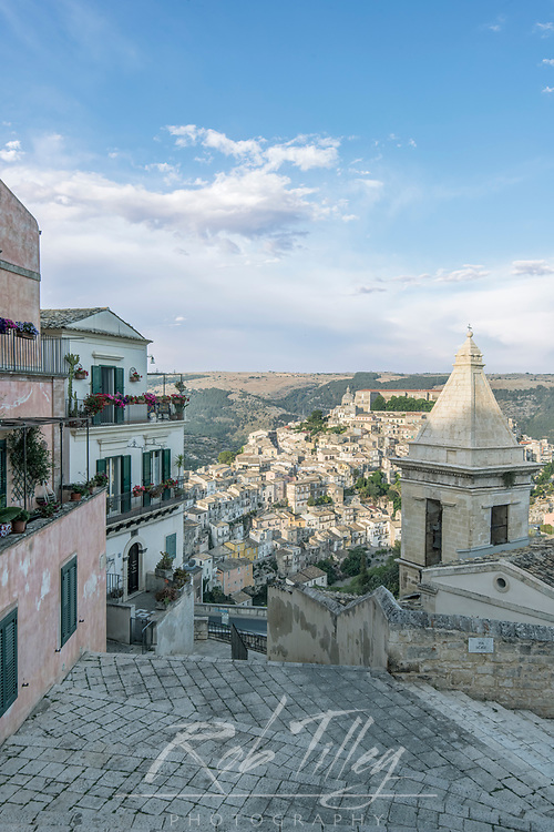 Europe, Italy, Sicily, Ragusa, Looking Down on Ragusa Ibla