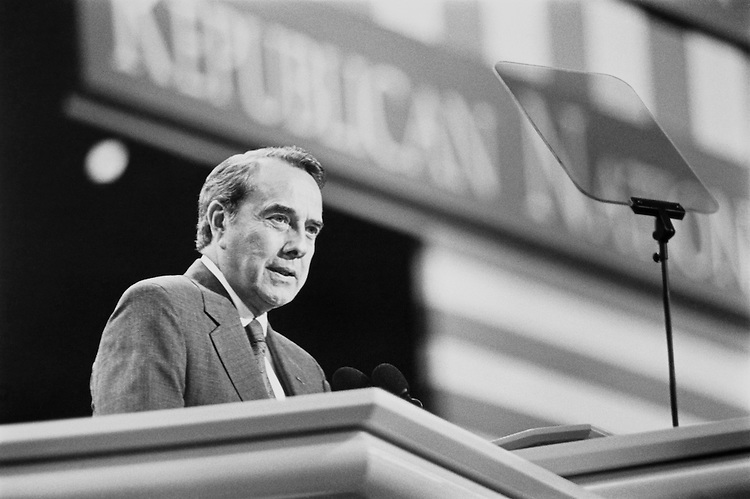 "Sen. Robert Joseph ""Bob"" Dole, R-Kans., Senate Minority Leader speaks at the Republican National Convention. August 1992 (Photo By Laura Patterson/CQ Roll Call)"