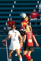 Rochester, NY - Saturday July 23, 2016: Western New York Flash forward Jessica McDonald (14), Western New York Flash midfielder McCall Zerboni (7), FC Kansas City midfielder Mandy Laddish (7) during a regular season National Women's Soccer League (NWSL) match between the Western New York Flash and FC Kansas City at Rochester Rhinos Stadium.