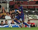 Dembele in action ,9th September 2017, Camp Nou, Barcelona, Spain; La Liga football, Barcelona versus Espanyol;