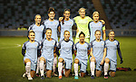 Manchester City Women before the Champions League last 16 tie, first leg between Manchester City Women and Brondby IF at the Academy Stadium. <br /> <br /> Photo credit should read: Lynne Cameron/Sportimage