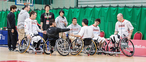03.07.2016. Leicester Sports Arena, Leicester, England. Continental Clash Wheelchair Basketball, USA versus Japan.  Team Japan before the match