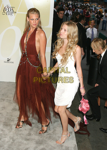 ALEXANDRA RICHARDS & THEODORA RICHARDS.2005 CFDA Fashion Awards - Inside Arrivals.New York Public Library in New York City, New York, USA, June 6th 2005 .full length sisters family walking up steps holding hands theadora.Ref: IW.www.capitalpictures.com.sales@capitalpictures.com.©Ian Wilson/Capital Pictures.