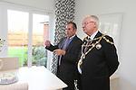 Mayor of Newport John Guy visiting Redrow Homes Mon Bank development.<br /> 25.09.13<br /> <br /> &copy;Steve Pope-FOTOWALES