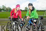l-r  Niamh O'Sullivan and Kate O'Sullivan  at the  St Kieran's GAA cycle from the Castleisland Desmonds Pitch on Sunday