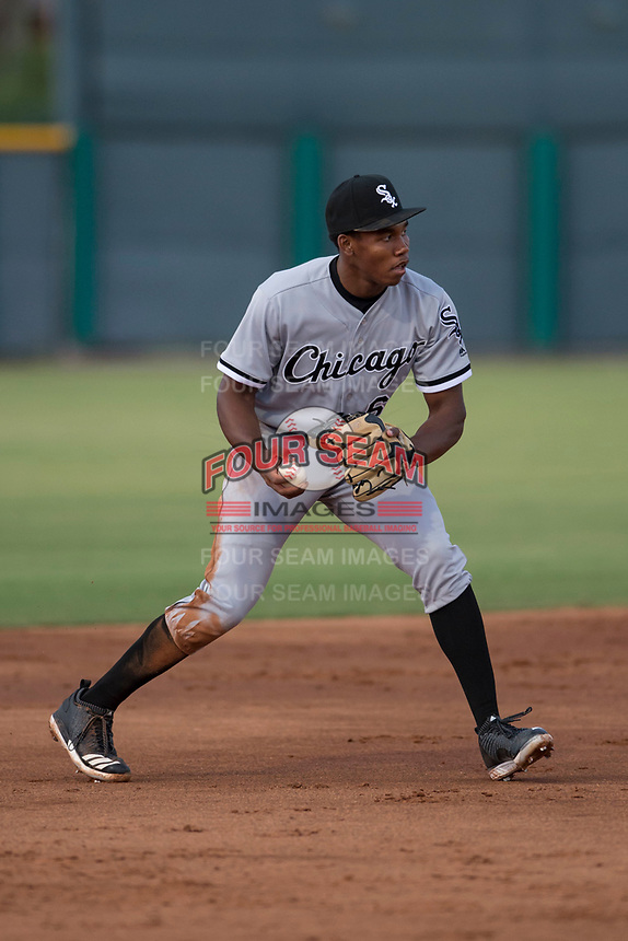 AZL White Sox third baseman Bryce Bush (61) during an Arizona League game against the AZL Cubs 2 at Sloan Park on July 13, 2018 in Mesa, Arizona. The AZL Cubs 2 defeated the AZL White Sox 6-4. (Zachary Lucy/Four Seam Images)