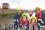 Killorglin Fire Brigade who rescued a woman trapped in her car underwater under the Pier in Killorglin Monday night l-r: Cieran Corcoran, Michael Coyle, John Foley, Damian Quigg and Jim Houlihan