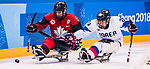 PyeongChang 15/3/2018 - Tyler McGregor (#8), of Forest, ON, as Canada takes on Korea in semifinal hockey action at the Gangneung Hockey Centre during the 2018 Winter Paralympic Games in Pyeongchang, Korea. Photo: Dave Holland/Canadian Paralympic Committee