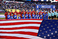 Harrison, NJ - Saturday, March 04, 2017: USA  prior to a SheBelieves Cup match between the women's national teams of the United States (USA) and England (ENG) at Red Bull Arena.