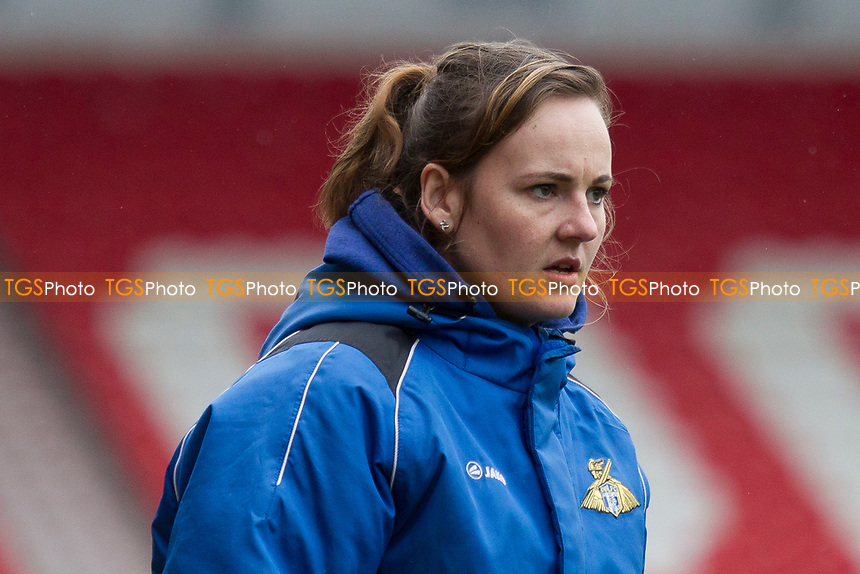Emma Coates manager of Belles during Doncaster Rovers Belles vs Durham Women, FA Women's Super League FA WSL2 Football at the Keepmoat Stadium on 16th April 2017