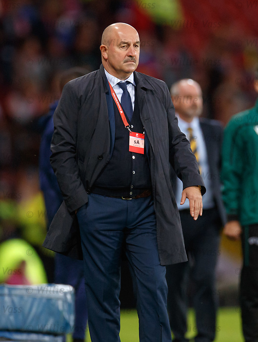 06.09.2019 Scotland v Russia, European Championship 2020 qualifying round, Hampden Park:<br /> Russia manager Stanislav Cherchesov