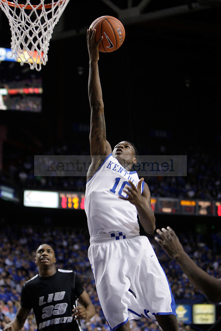 UK freshman guard Archie Goodwin lays the ball up against LIU at Rupp Arena on Friday, Nov. 23, 2012. Photo by Scott Hannigan | Staff