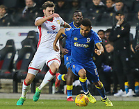 Andy Barcham of AFC Wimbledon on the ball during the Sky Bet League 1 match between MK Dons and AFC Wimbledon at stadium:mk, Milton Keynes, England on 13 January 2018. Photo by David Horn.