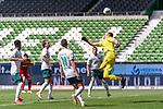 Jiri Pavlenka (Werder Bremen #01), Milos Veljkovic (Werder Bremen #13), Niklas Moisander (Werder Bremen #18 Kapitaen) Niclas Füllkrug / Fuellkrug (Werder Bremen #11), Theodor Gebre Selassie (Werder Bremen #23)<br /> <br /> <br /> Sport: nphgm001: Fussball: 1. Bundesliga: Saison 19/20: 34. Spieltag: SV Werder Bremen vs 1.FC Koeln  27.06.2020<br /> <br /> Foto: gumzmedia/nordphoto/POOL <br /> <br /> DFL regulations prohibit any use of photographs as image sequences and/or quasi-video.<br /> EDITORIAL USE ONLY<br /> National and international News-Agencies OUT.