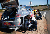 6th October 2017, Costa Daurada, Salou, Spain; FIA World Rally Championship, RallyRACC Catalunya, Spanish Rally; Sebastien Ogier - Julien Ingrassia of M-Sport WRT during changes the wheels