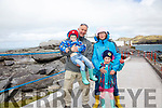 The O'Donoghue family at the Valentia Lighthouse open day on Sunday pictured l-r; Ben, Owen, Jessica & Gemma O'Donoghue.