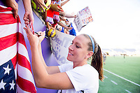 Orlando, FL - October 25, 2015:  The USWNT defeated Brazil 3-1 during the Victory Tour at the Citrus Bowl.