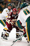 18 October 2009: Boston College Eagle forward Matt Price, a Senior from Milton, Ontario, in action during the first period against the University of Vermont Catamounts at Gutterson Fieldhouse in Burlington, Vermont. The Catamounts defeated the visiting Eagles 4-1. Mandatory Credit: Ed Wolfstein Photo