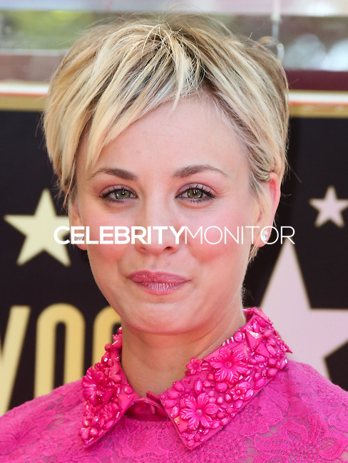 HOLLYWOOD, LOS ANGELES, CA, USA - OCTOBER 29: Kaley Cuoco at the ceremony honoring Kaley Cuoco with a star in the Hollywood Walk Of Fame on October 29, 2014 in Hollywood, Los Angeles, California, United States. (Photo by Xavier Collin/Celebrity Monitor)