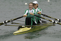 Munich, GERMANY, 2006, FISA, Rowing, World Cup, IRL LW2X bow Sinead Jennings and Niamh Ni Cheilleacher . held on the Olympic Regatta Course, Munich, Thurs. 25.05.2006. © Peter Spurrier/Intersport-images.com,  / Mobile +44 [0] 7973 819 551 / email images@intersport-images.com..[Mandatory Credit, Peter Spurier/ Intersport Images] Rowing Course, Olympic Regatta Rowing Course, Munich, GERMANY