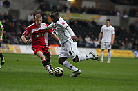 Pictured: Jason Scotland of Swansea City in action<br /> Re: Coca Cola Championship, Swansea City FC v Charlton Athletic at the Liberty Stadium, Swansea, south Wales. 28 February 2009<br /> Picture by D Legakis Photography / Athena Picture Agency, Swansea 07815441513