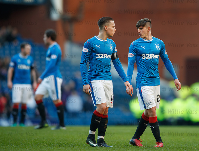 Emerson Hyndman with team mate Barrie McKay
