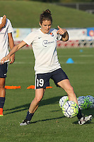 Piscataway, NJ - Saturday Aug. 27, 2016: Kelley O'Hara prior to a regular season National Women's Soccer League (NWSL) match between Sky Blue FC and the Chicago Red Stars at Yurcak Field.