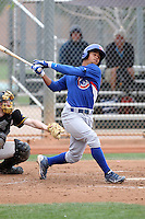 Brian Inoa of the Chicago Cubs participates in intrasquad spring training games at the Cubs complex on March 21, 2011  in Mesa, Arizona. .Photo by:  Bill Mitchell/Four Seam Images.