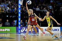 Tactix&rsquo; Broke Leaver in action during the ANZ Premiership - Pulse v Tactix at TSB Arena, Wellington, New Zealand on Monday 14 May 2018.<br /> Photo by Masanori Udagawa. <br /> www.photowellington.photoshelter.com