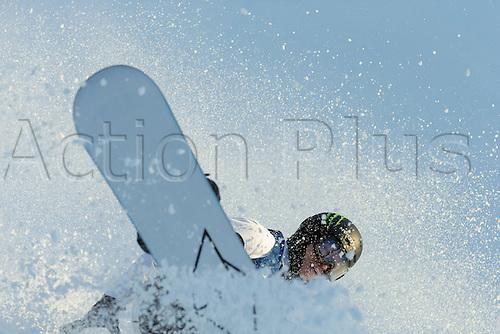 25.02.2016. Wyller Oslo Winter Park, Oslo, Norway.  X Games Oslo 2016. Mens Snowboard SuperPipe Round 1. Iouri Podladtchikov of Switzerland competes in the men's Snowboard SuperPipe elimination  during the X Games Oslo 2016 at the Wyller Oslo winter park in Oslo, Norway.