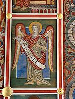 Deckendetail in St. Michael in Hildesheim, Niedersachsen, Deutschland, Unesco-Weltkulturerbe.