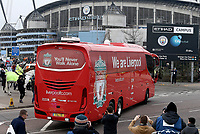 The Liverpool team coach arrives at The Etihad stadium, home of Manchester City<br /> <br /> Photographer Rich Linley/CameraSport<br /> <br /> UEFA Champions League Quarter-Final Second Leg - Manchester City v Liverpool - Tuesday 10th April 2018 - The Etihad - Manchester<br />  <br /> World Copyright &copy; 2017 CameraSport. All rights reserved. 43 Linden Ave. Countesthorpe. Leicester. England. LE8 5PG - Tel: +44 (0) 116 277 4147 - admin@camerasport.com - www.camerasport.com