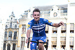 Elia Viviani (ITA) Deceuninck-Quick Step at the team presentation held on the Grand-Place before the 2019 Tour de France starting in Brussels, Belgium. 4th July 2019<br /> Picture: Colin Flockton | Cyclefile<br /> All photos usage must carry mandatory copyright credit (© Cyclefile | Colin Flockton)