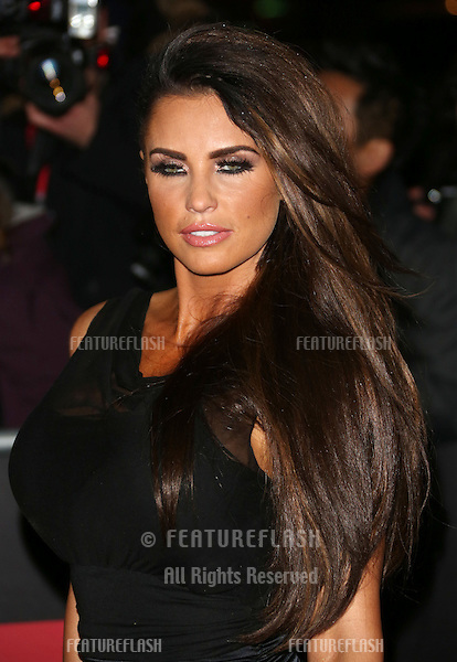 Katie Price arriving for the Night of Heroes: The Sun Military Awards 2012 held at the Imperial War Museum, london, 06/12/2012 Picture by: Henry Harris / Featureflash
