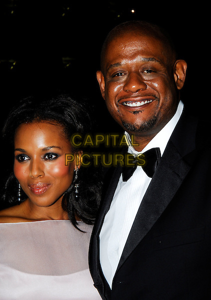 "KERRY WASHINGTON & FOREST WHITAKER.The Times BFI London Film Festival opening night with the screening of ""The Last King Of Scotland"" at the Odeon Leicester Square, London, UK. .October 18th, 2006.Ref: IA.headshot portrait goatee facial hair bow tie .www.capitalpictures.com.sales@capitalpictures.com.©Ian Allis/Capital Pictures"